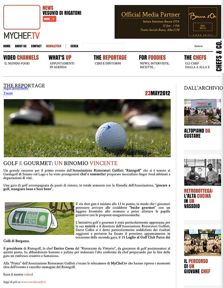 Golf e gourmet: un binomio vincente - MyChef.tv