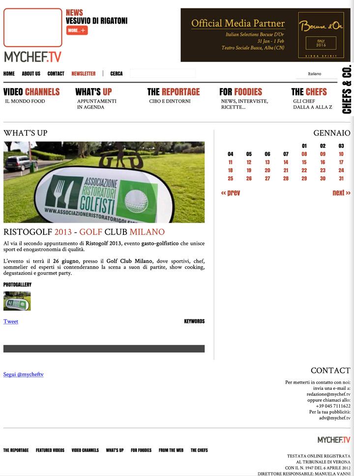 Ristogolf 2013 al Golf Club Milano - MyChef.tv