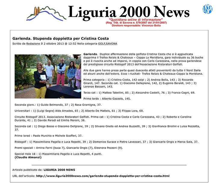Liguria2000News.com » Garlenda. Stupenda doppietta per Cristina