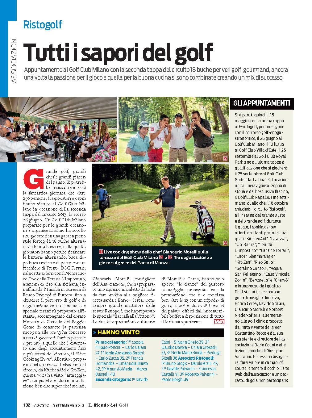 Il Mondo del Golf - Settembre 2013