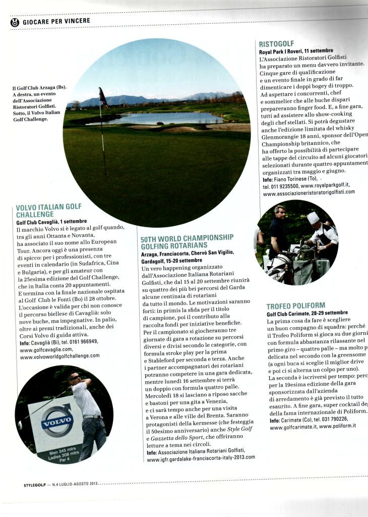 Style Golf - Luglio 2013 (articolo)