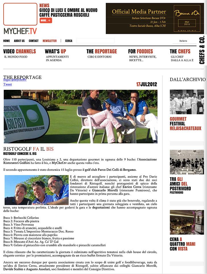 Ristogolf fa il bis - MyChef.tv