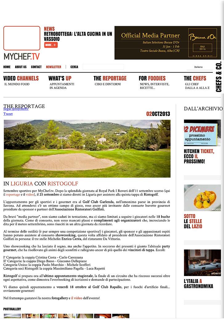 In Liguria con Ristogolf - MyChef.tv