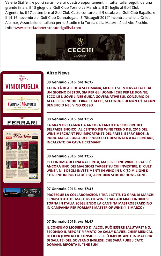 WineNews - Enrico Cerea, Davide Scabin, Giancarlo Morelli e Norb
