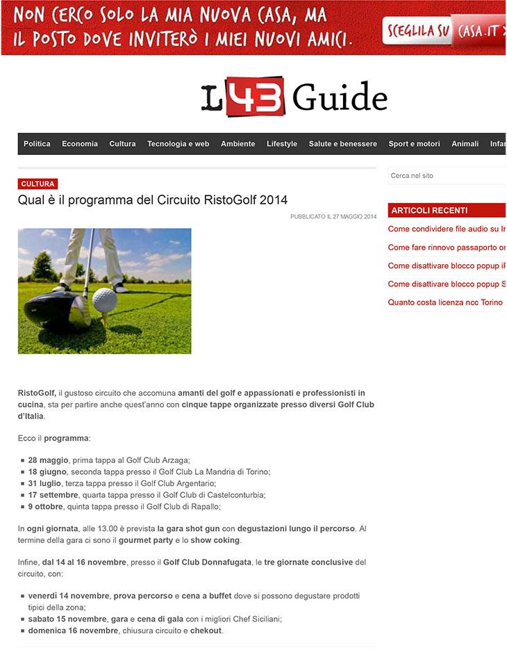 Qual è il programma del Circuito RistoGolf 2014 | L43 Guide