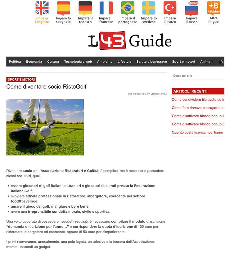 Come diventare socio RistoGolf | L43 Guide