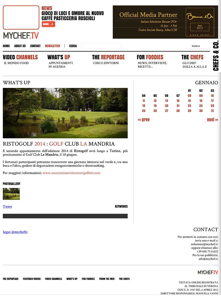 Ristogolf 2014: golf Club La Mandria - MyChef.tv
