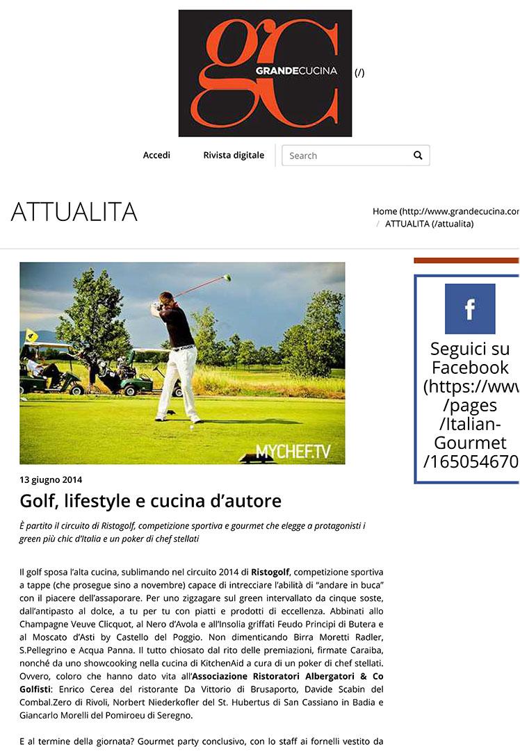 Golf, lifestyle e cucina d'autore