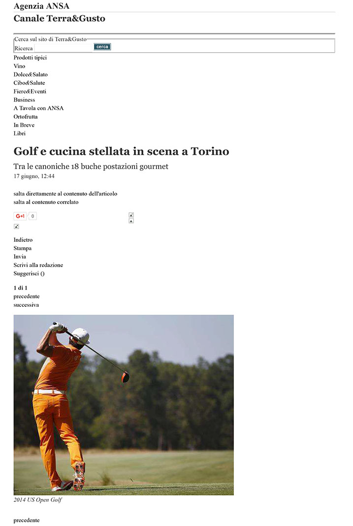 Golf e cucina stellata in scena a Torino - Fiere&Eventi - Terra&