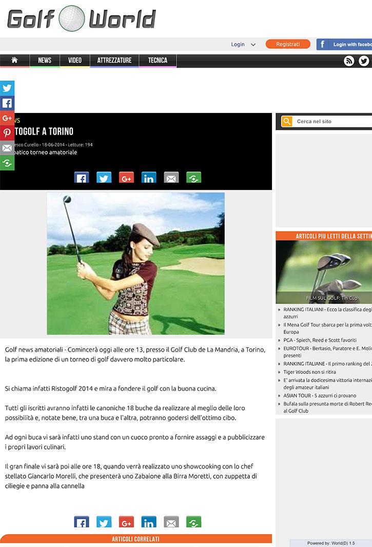 Ristogolf a Torino - Golf World Italia