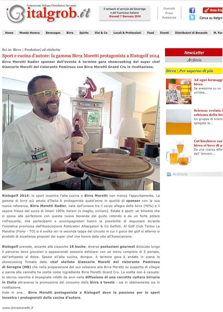 Sport e cucina d'autore: la gamma Birra Moretti protagonista a