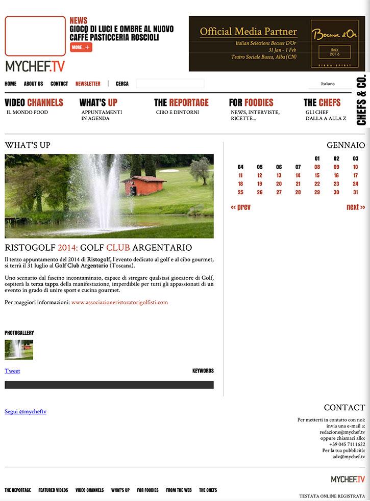 Ristogolf 2014: Golf Club Argentario - MyChef.tv