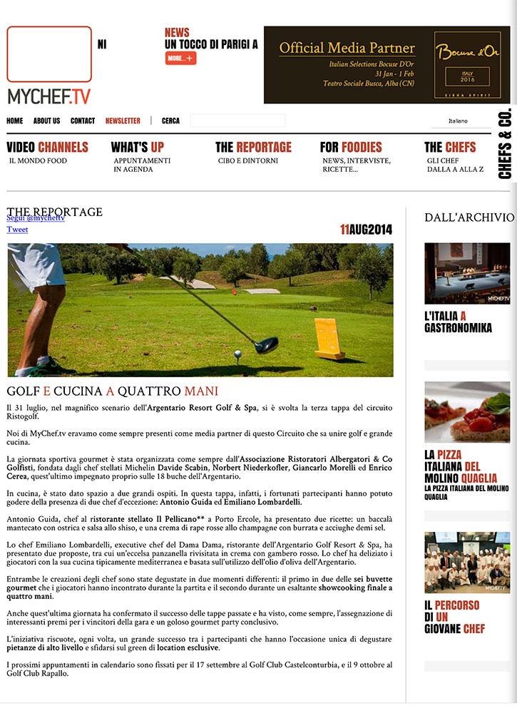 Golf e cucina a quattro mani – MyChef.tv