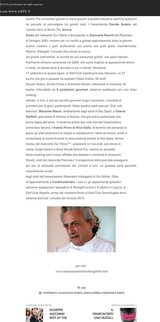 LA CUCINA DI SCABIN, CEREA E MORELLI incontra il GREEN - Luca Bo