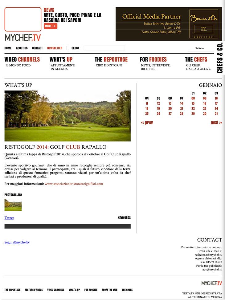 Ristogolf 2014: Golf Club di Rapallo - MyChef.tv