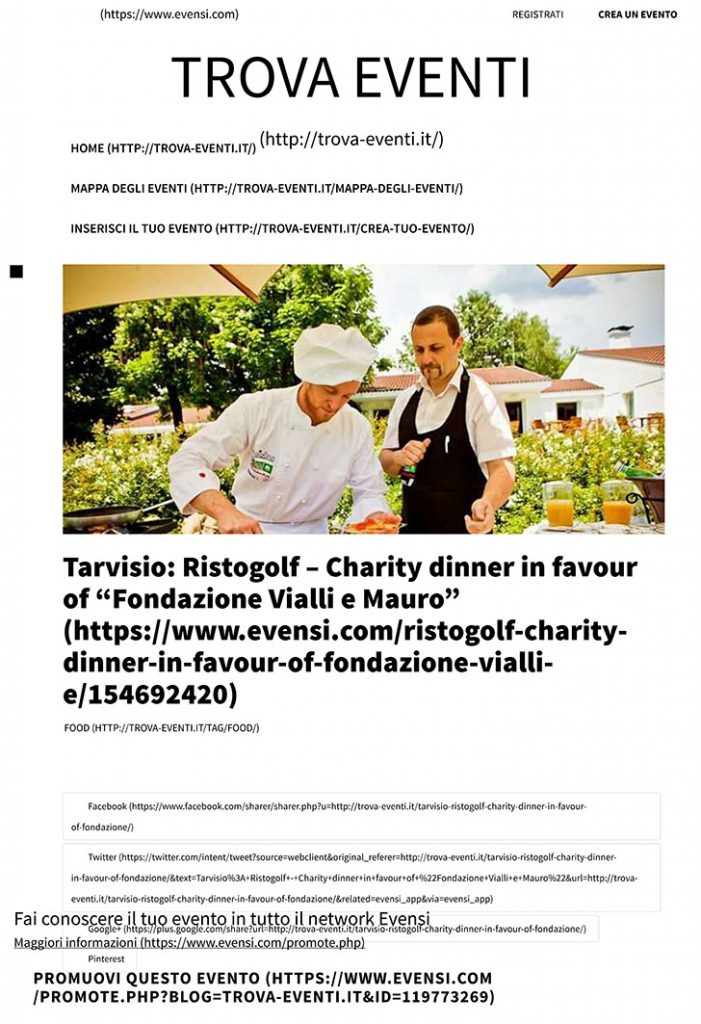 Tarvisio: Ristogolf - Charity dinner in favour of