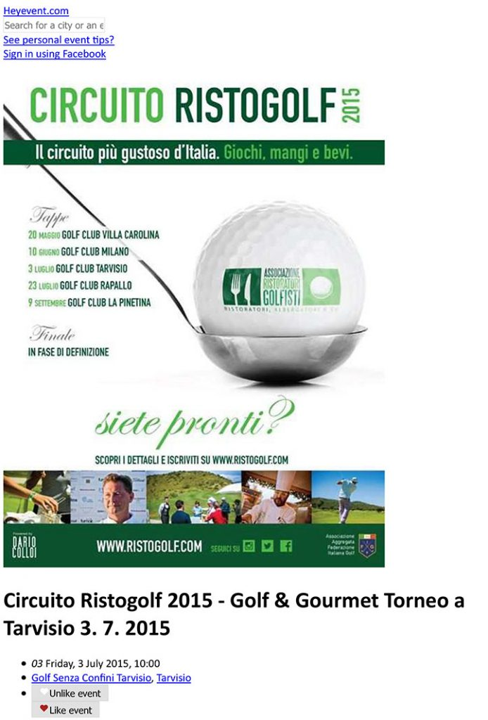 Circuito Ristogolf 2015 - Golf & Gourmet Torneo a Tarvisio 3. 7.