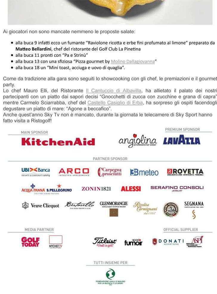 Ristogolf la Finalissima all'Argentario - GlamFood news