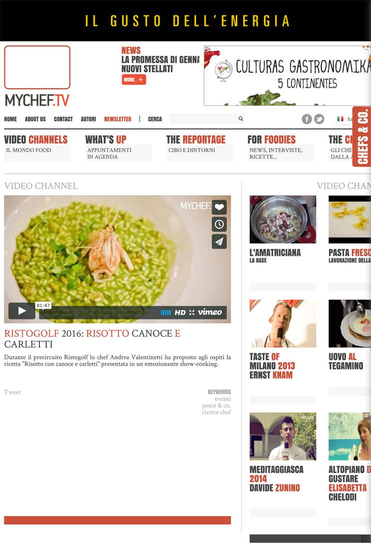 Ristogolf: risotto con canoce e carletti - MyChef.tv