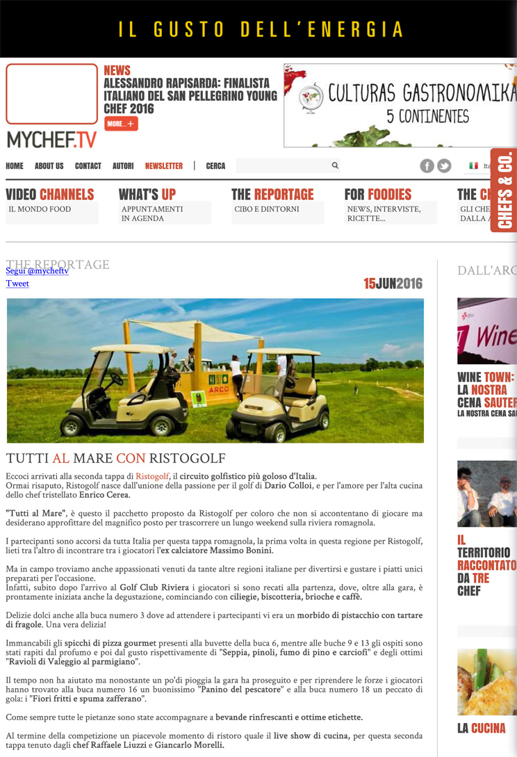 Tutti al mare con Ristogolf - MyChef.tv