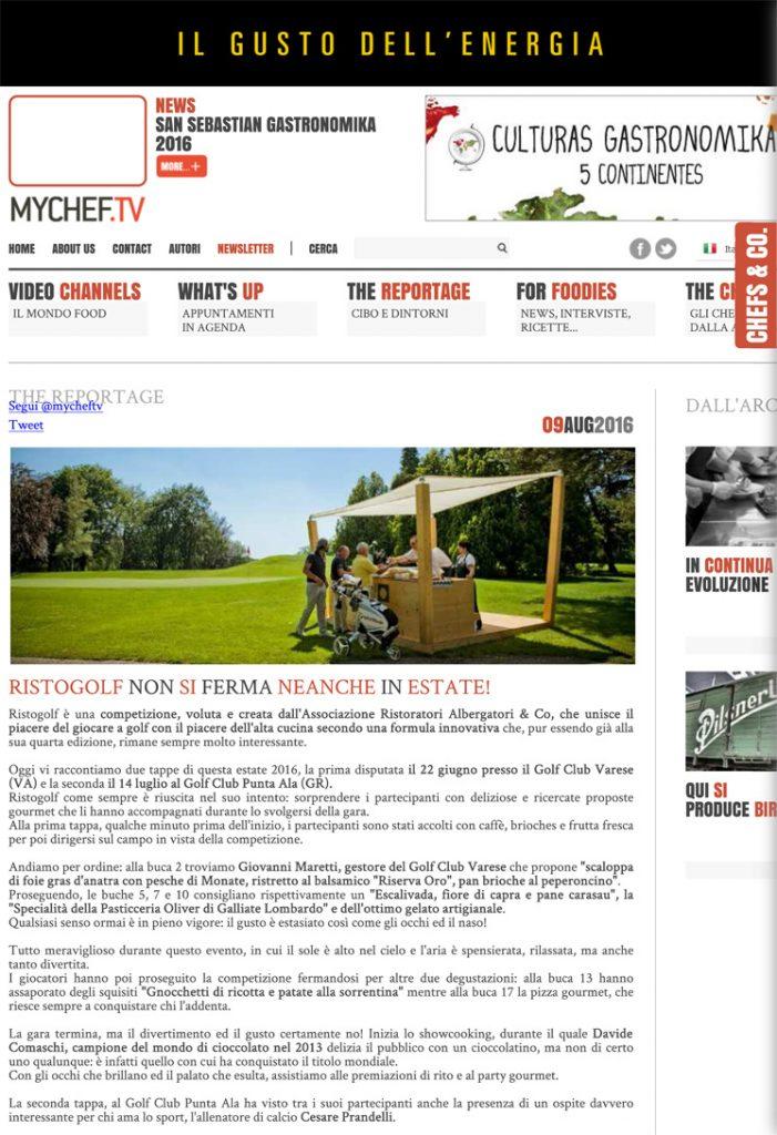 Ristogolf non si ferma neanche in estate! - Mychef.tv