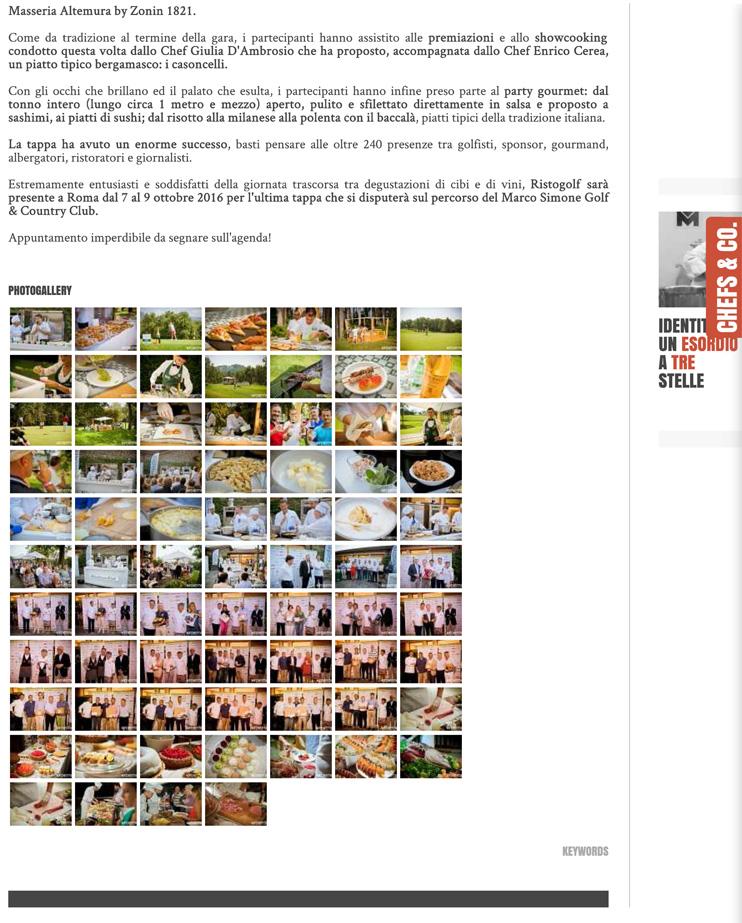 Ristogolf e la 5° tappa a Bergamo - Mychef.tv