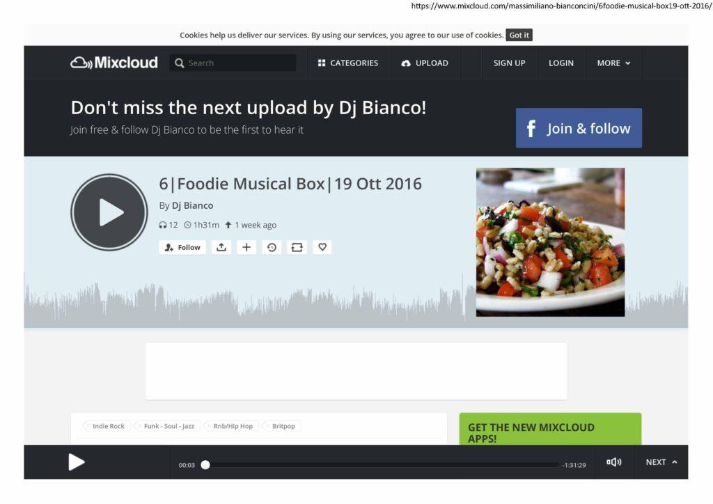 2016.10.19 Radio Godot_Foodie Musical Box