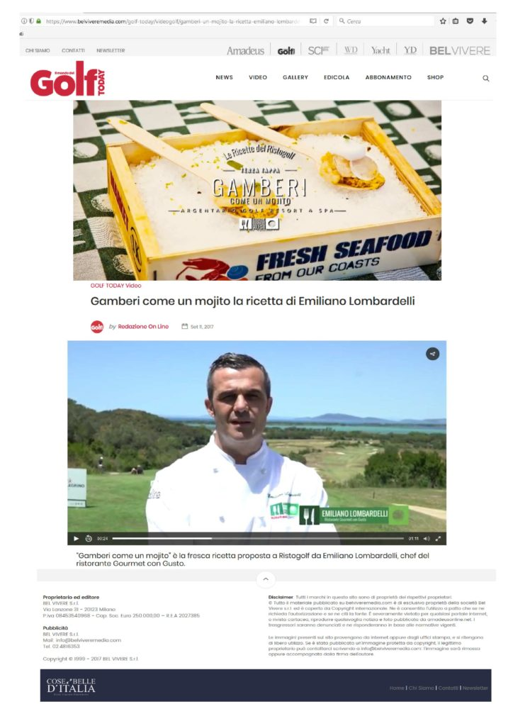 2017.09.11 Il Mondo del Golf Today_Web