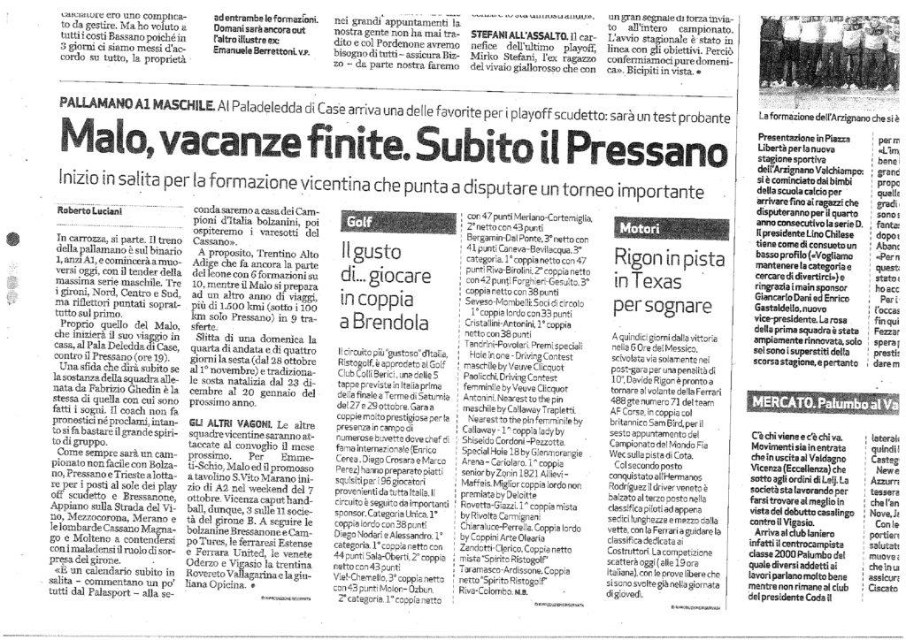 2017.09.16 Giornale di Vicenza